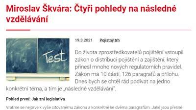 Článek čtyři pohledy na následné vzdělávání Miroslav Škvára